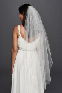 wedding back piece and veil