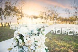 color scheme at wedding venue