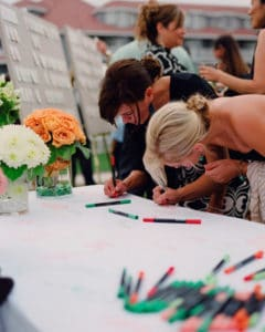 table cloth guest book