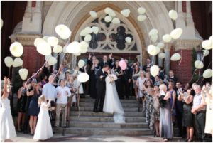 balloons as wedding send off