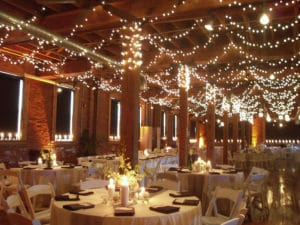 lighting at wedding to complement wedding palette