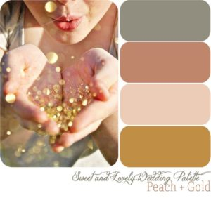 4-color palette for wedding