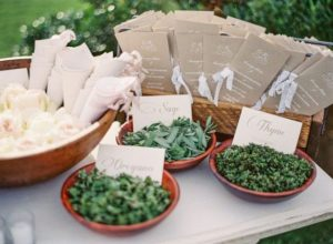 herbs as wedding send off
