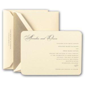 ecru wedding invitations