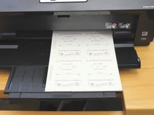 printing DIY wedding invitations