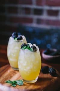 Mango Blackberry Vodka Cooler