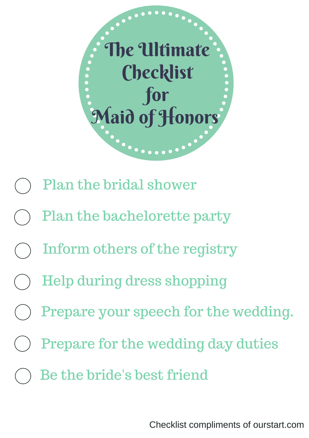 The Ultimate Checklist for the Anxious Maid of Honor