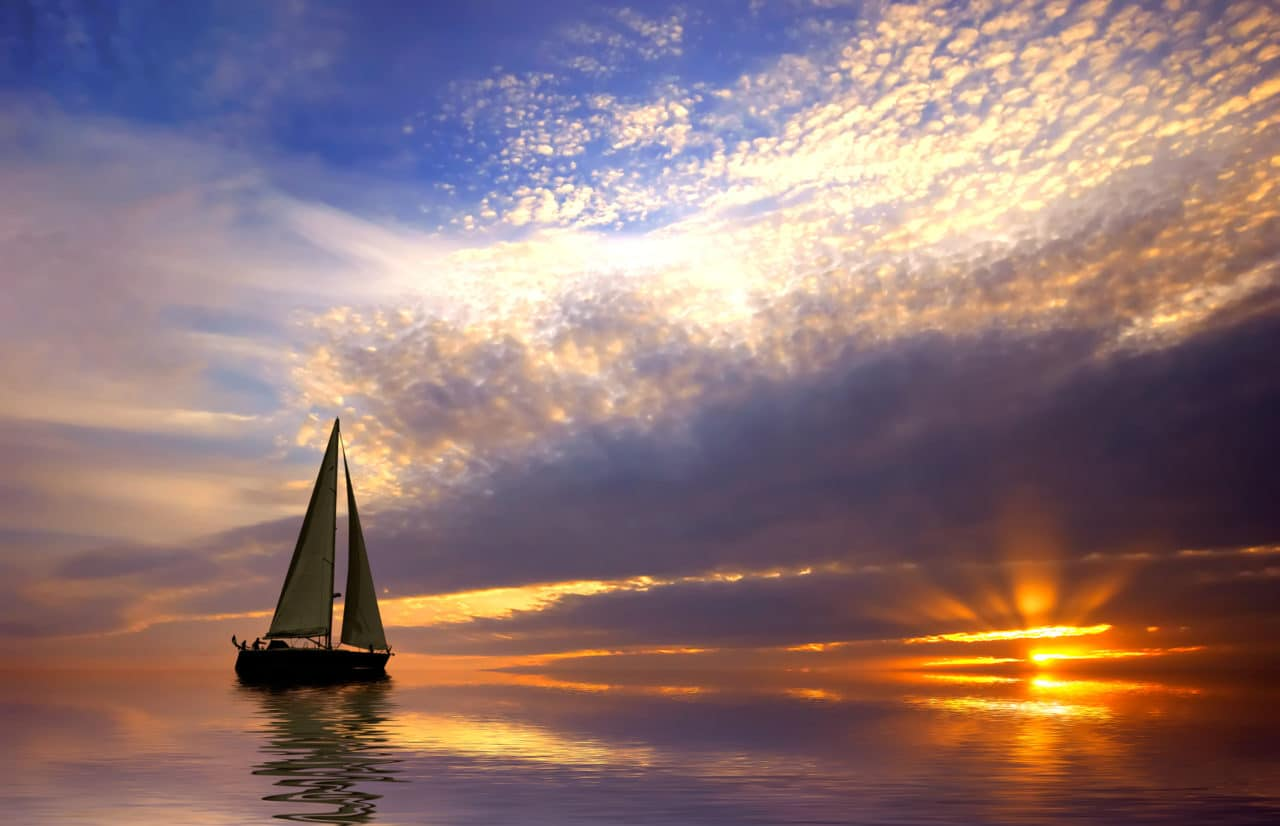 Sailboat in a sunset