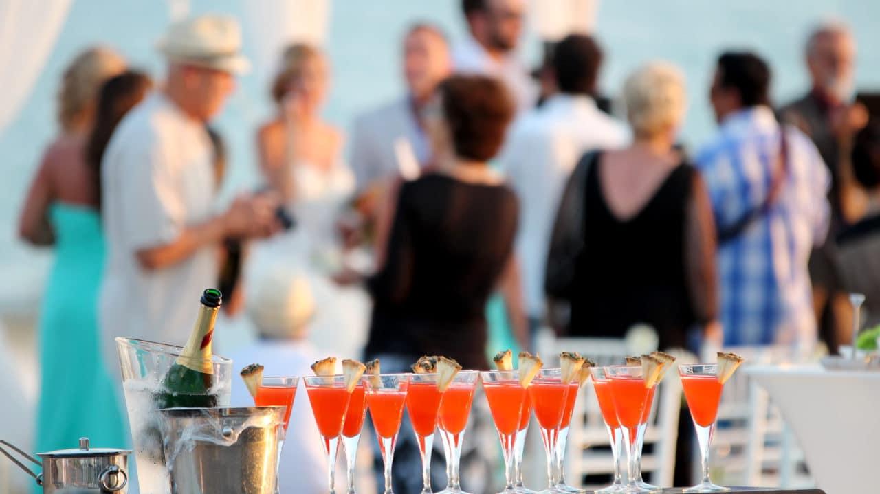 Cocktails at Wedding