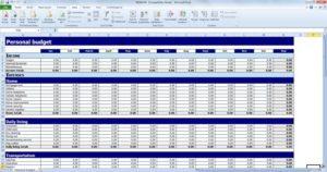 spreadsheet budgeting