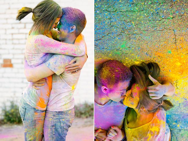 Color engagement poses