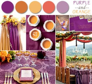 fall wedding color combinations