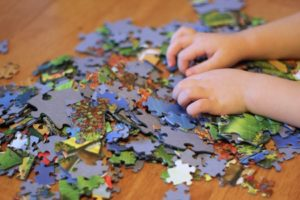 puzzles on a rainy day