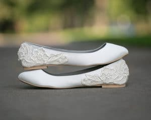 flats as wedding shoes
