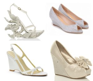 wedges as wedding shoes