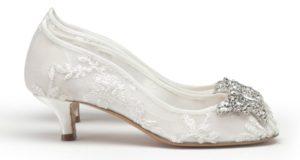 low heels as wedding shoes