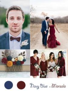 winter wedding color combinations