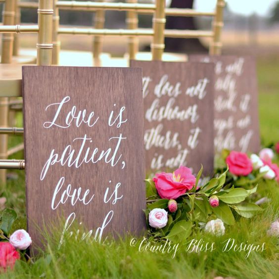 Love is Patient, Love is Kind signs
