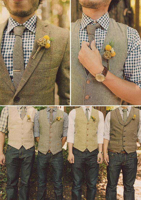vintage groomsmen