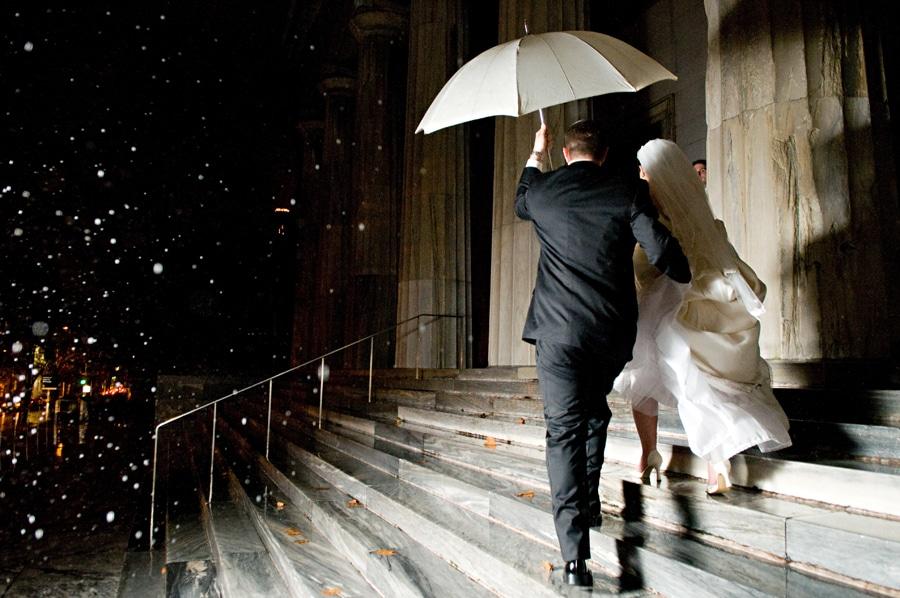 storm at outdoor wedding