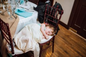 napping at wedding