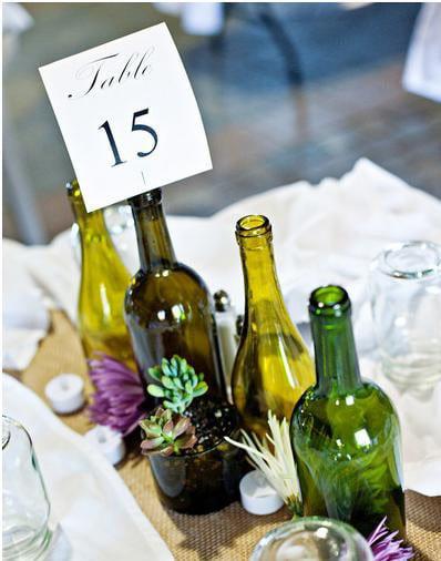 bottle wedding centerpieces