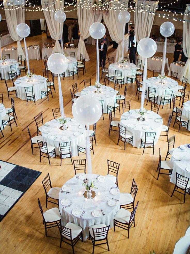 balloon wedding centerpieces