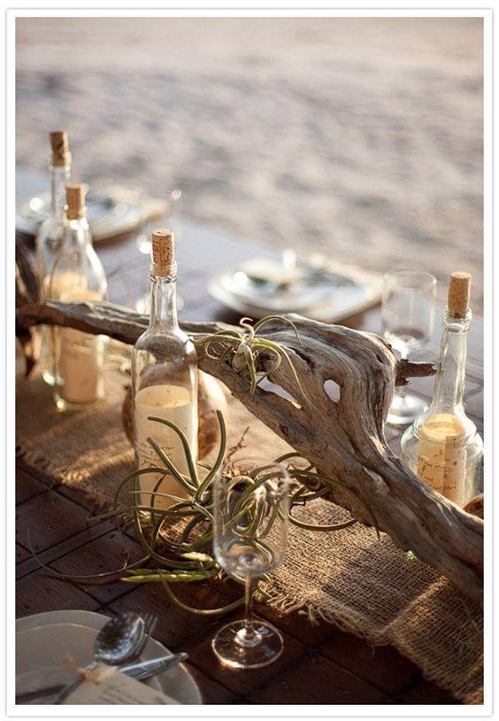 driftwood wedding centerpiece