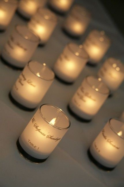 candle place cards