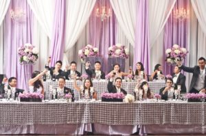 traditional bridal party table