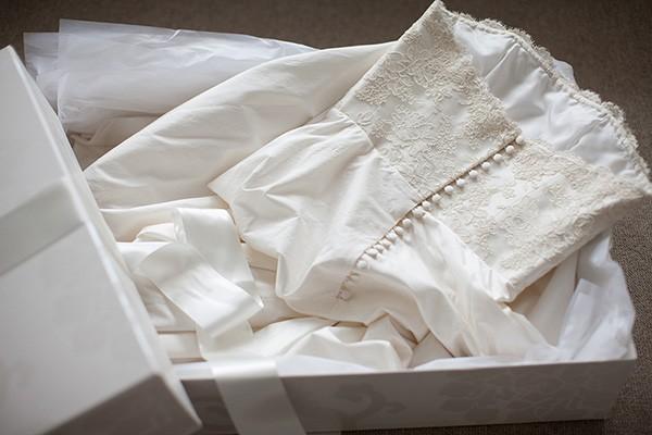 storing wedding dress