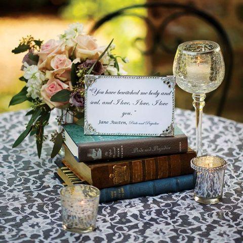 book wedding centerpieces