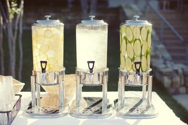 water for wedding guests
