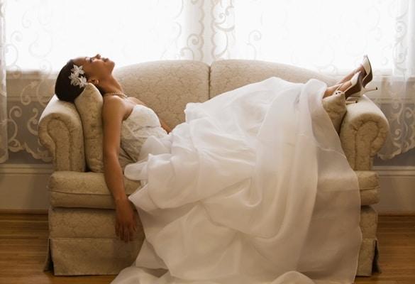 bride wedding planning alone