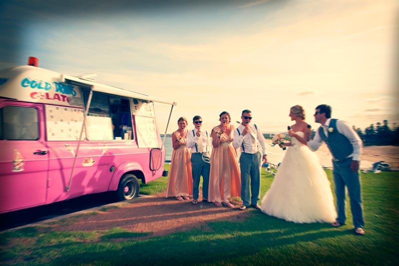 ice cream wedding