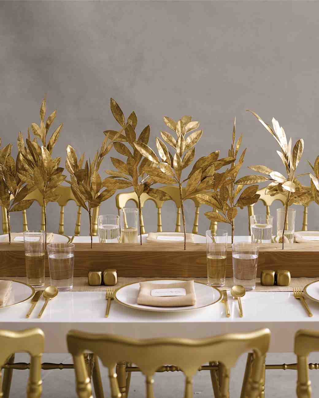 leaf wedding centerpieces