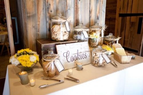 cookie bar at wedding