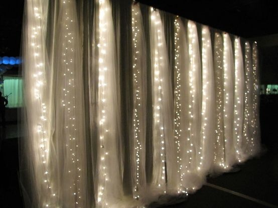 curtain and lights backdrop
