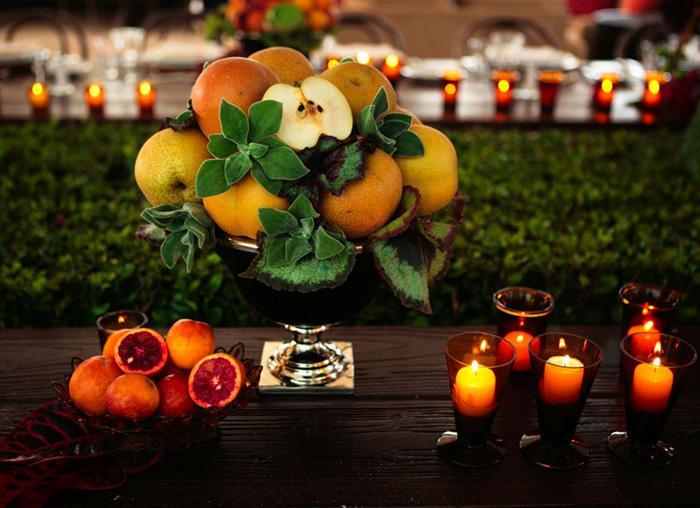 fruit wedding centerpieces