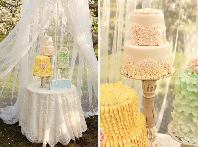 canopy over wedding cake