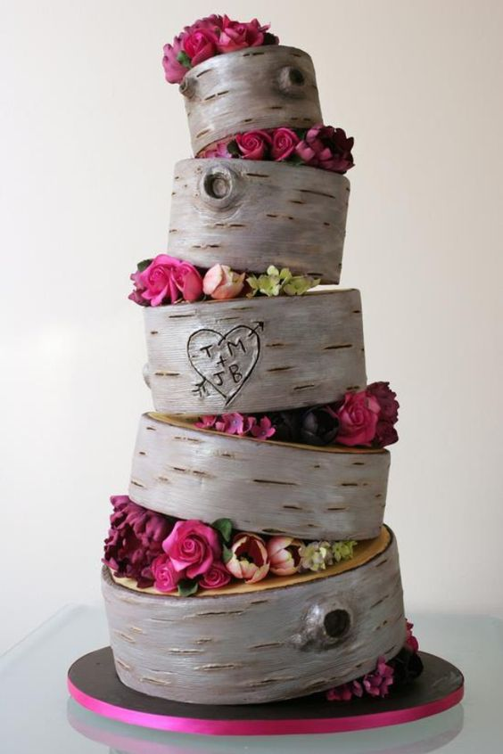 his and her wedding cakes