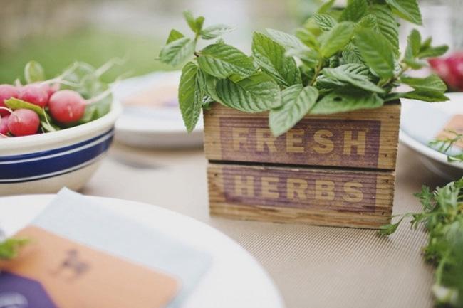 herb wedding centerpiece