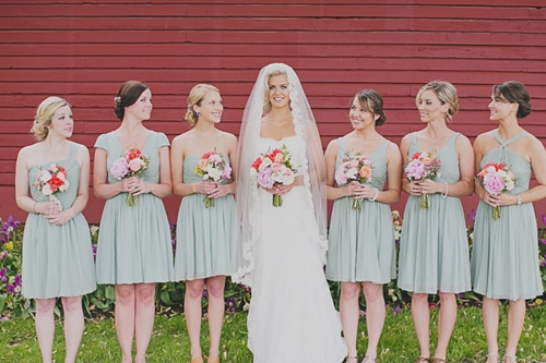 different necklines for bridesmaid dresses