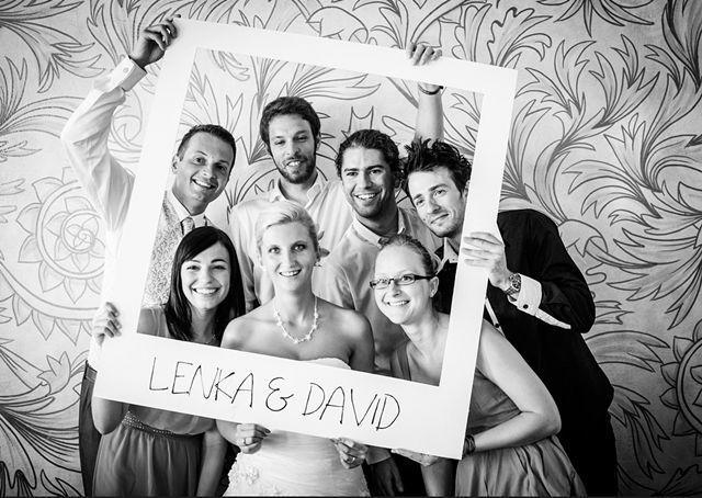 giant Polaroid wedding