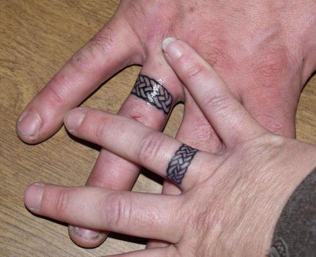 braided ring tattoo