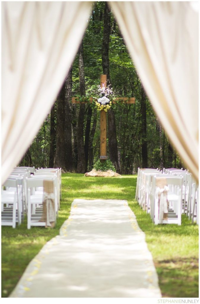 Cross at the wedding ceremony