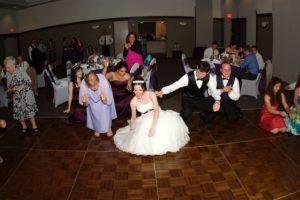 Bride Dancing Crazily