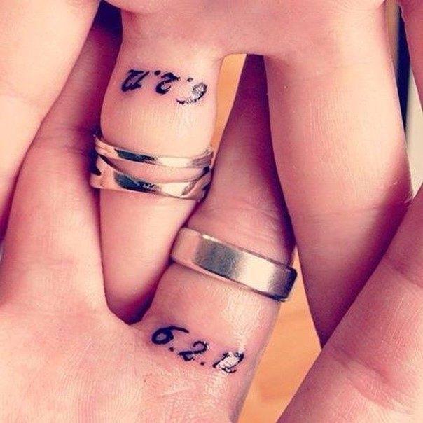 date ring tattoo