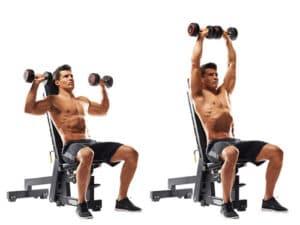 workout partners shoulder press
