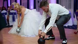 workout partners wedding dress